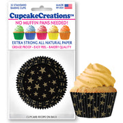 Gold Star Cupcake Liners 32 Pack