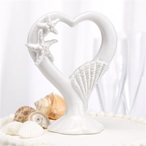 Starfish Heart Wedding Topper- White Pearlescent