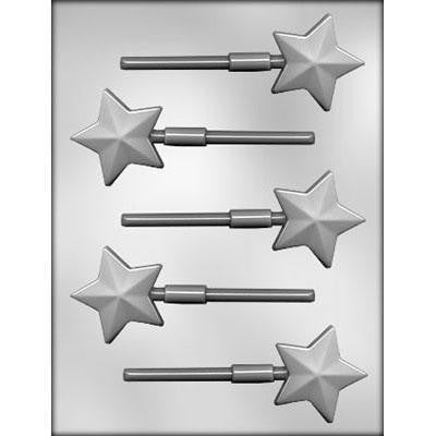 Faceted Star Sucker Chocolate Mold