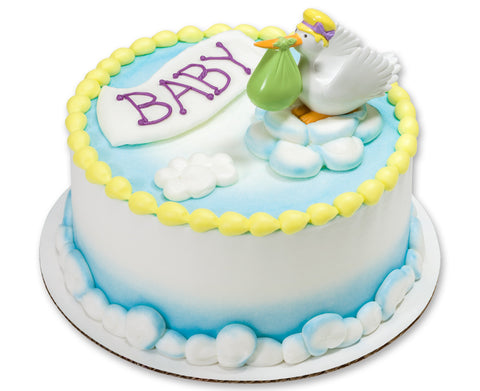 Baby Shower Stork Cake Topper Decoration