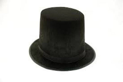 Tall Black Lincoln Stove Pipe Top Hat