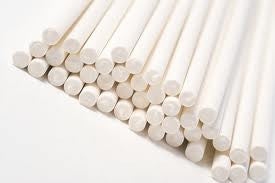 "Sucker Sticks - White 8""/50 Count"