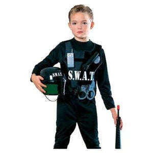 Complete SWAT Cop Police Officer Kid's Costume