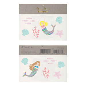 Mermaid Tattoos/ Temporary Tattoos / 2 sets