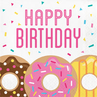 Fun Donut Party Birthday Luncheon Napkins
