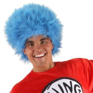 Dr. Seuss's Thing 1 and 2 Deluxe Blue Fur Wig