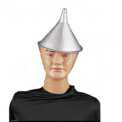 Tin Man Hat- Silver Funnel Hat