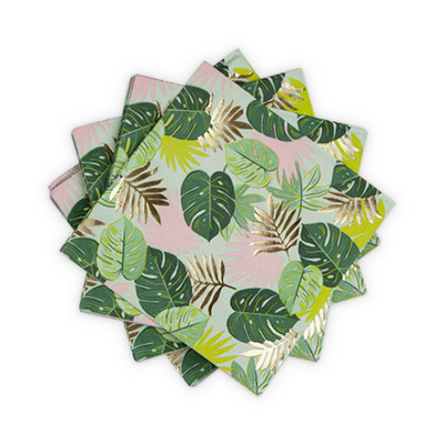 Tropical Leaves Luncheon Napkins/ 20 Count