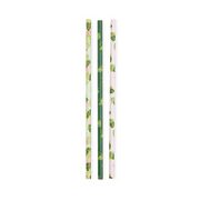 Tropical Leaves Paper Straws/ 24 Count/ 3 Designs