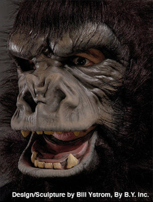 Zagone Deluxe Black Gorilla Latex Mask