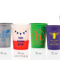 Plastic Stadium Personalized Cups / 50 Count