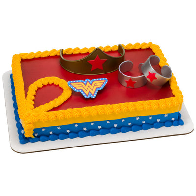 Wonder Woman Cake Topper Kit