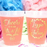 Frosted Plastic Shatterproof Personalized Cups / 50 Count