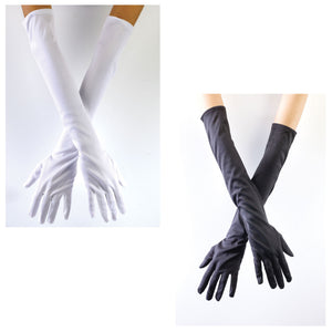 Long White Opera Gloves Adult Sized