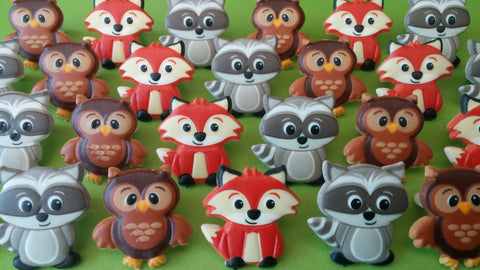 Woodland Friends - Cupcake Rings. /12 per pack