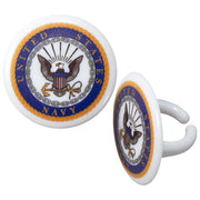 USA Navy Cupcake Rings/Party Favors 12 CT