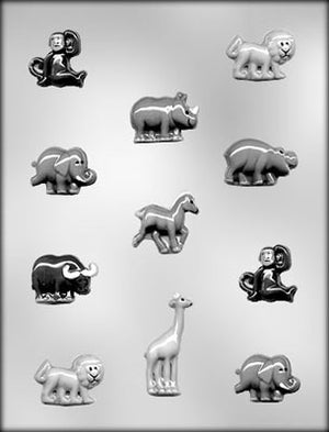 Zoo Jungle Animal Assortment Chocolate Mold