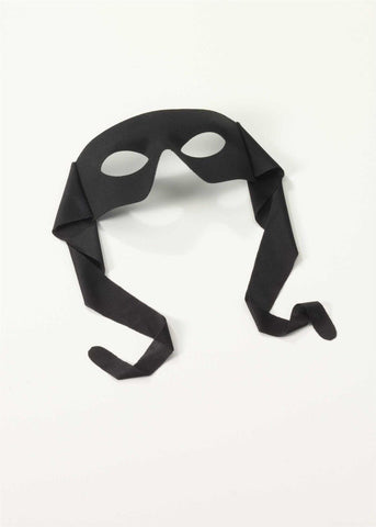 Black Zorro Half Mask
