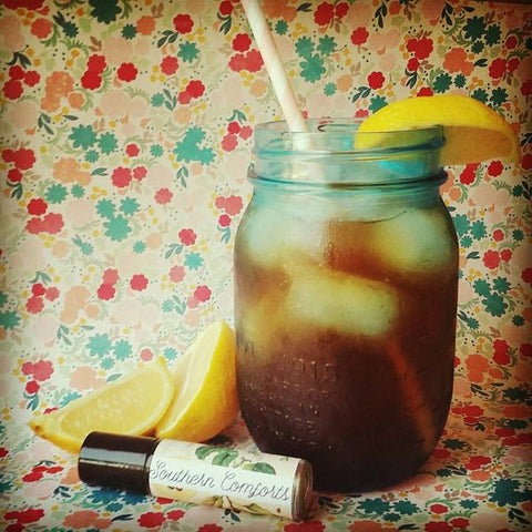 Charlotte Sunshine: Black tea, sugar, lemon wedges, gardenia flowers, gardenia leaves.