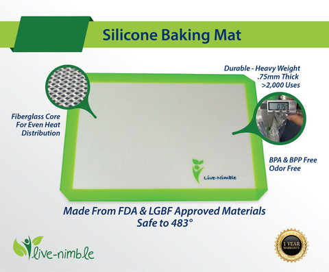 Live-Nimble Silicone Baking Mats (Set of Two)