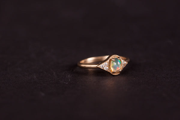 Eden Philippa Opal & White Diamonds Adara Ring