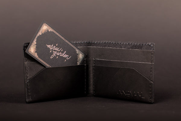Animal Handmade Deep Diver Leather Bifold Wallet