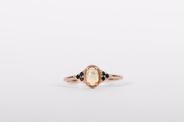Eden Philippa Opal & Black Diamonds Adara Ring
