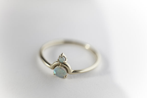 WWAKE Nested Double Opal Ring
