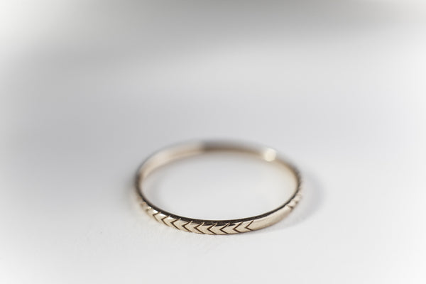 Digby & Iona Petite Pave Arrows Ring