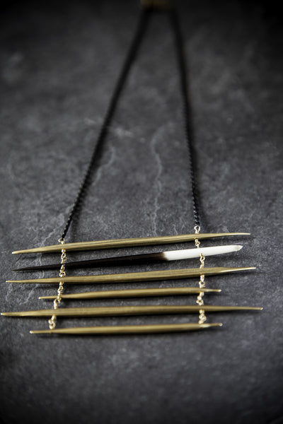 K/LLER Quill Ladder Necklace