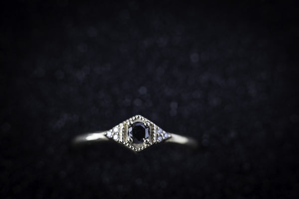Eden Philippa Black Diamond Drea Ring