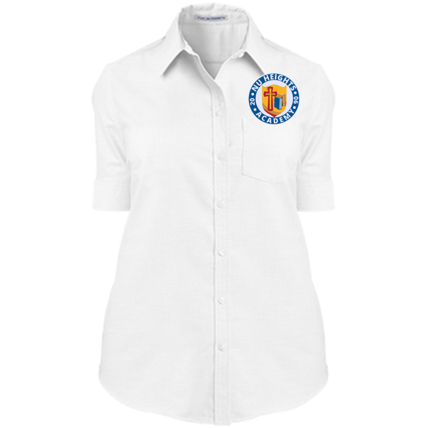 NHA Ladies' Short Sleeve Oxford Shirt