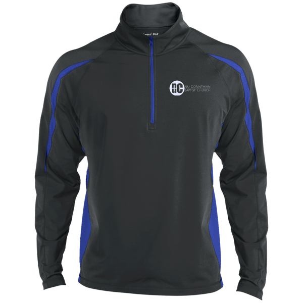 NuCBC Mens Sport Wicking Colorblock Half-Zip