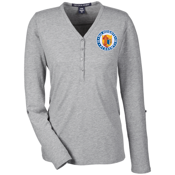 NHA Ladies' Henley Knit Top