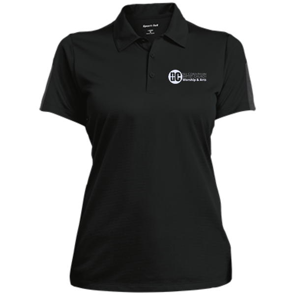Worship&Arts -Ladies Performance Textured Three-Button Polo