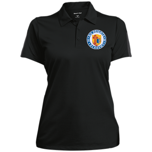 NHA Ladies Performance Textured Three-Button Polo