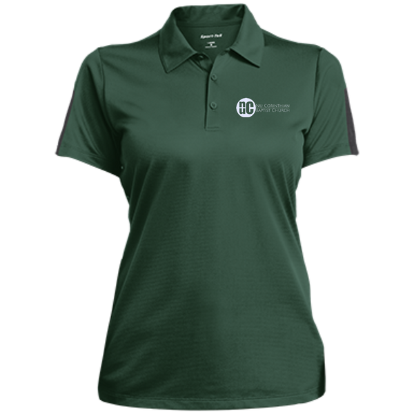 NuCBC Ladies Performance Textured Three-Button Polo