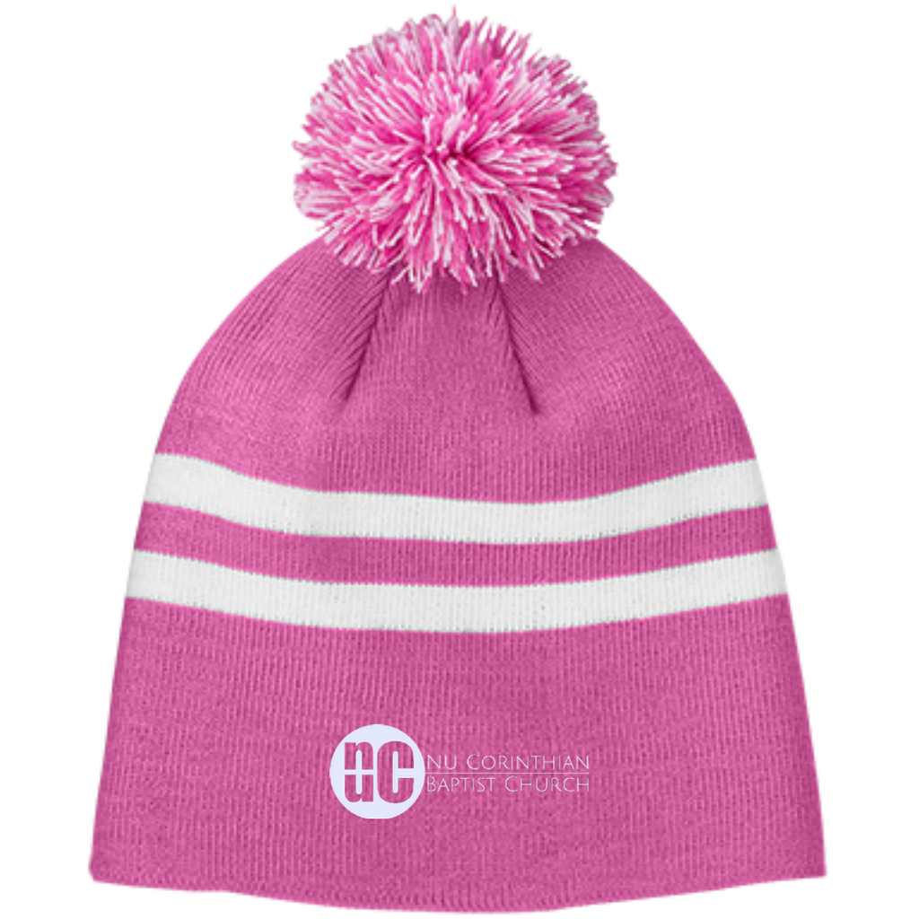 NuCBC Team 365 Striped Pom Beanie