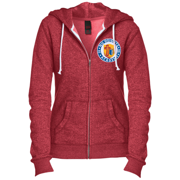 NHA Juniors' Custom Embroidered Fitted Full-Zip Hoodie