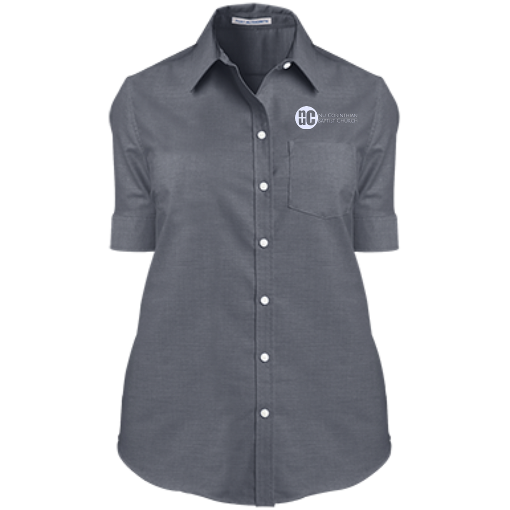 NuCBC Ladies' Short Sleeve Oxford Shirt
