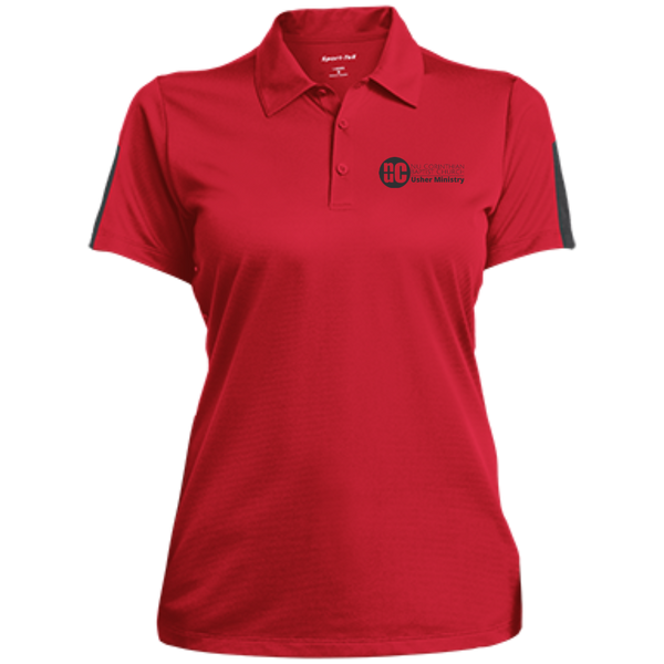 Ladies' Performance Textured Three-Button Polo