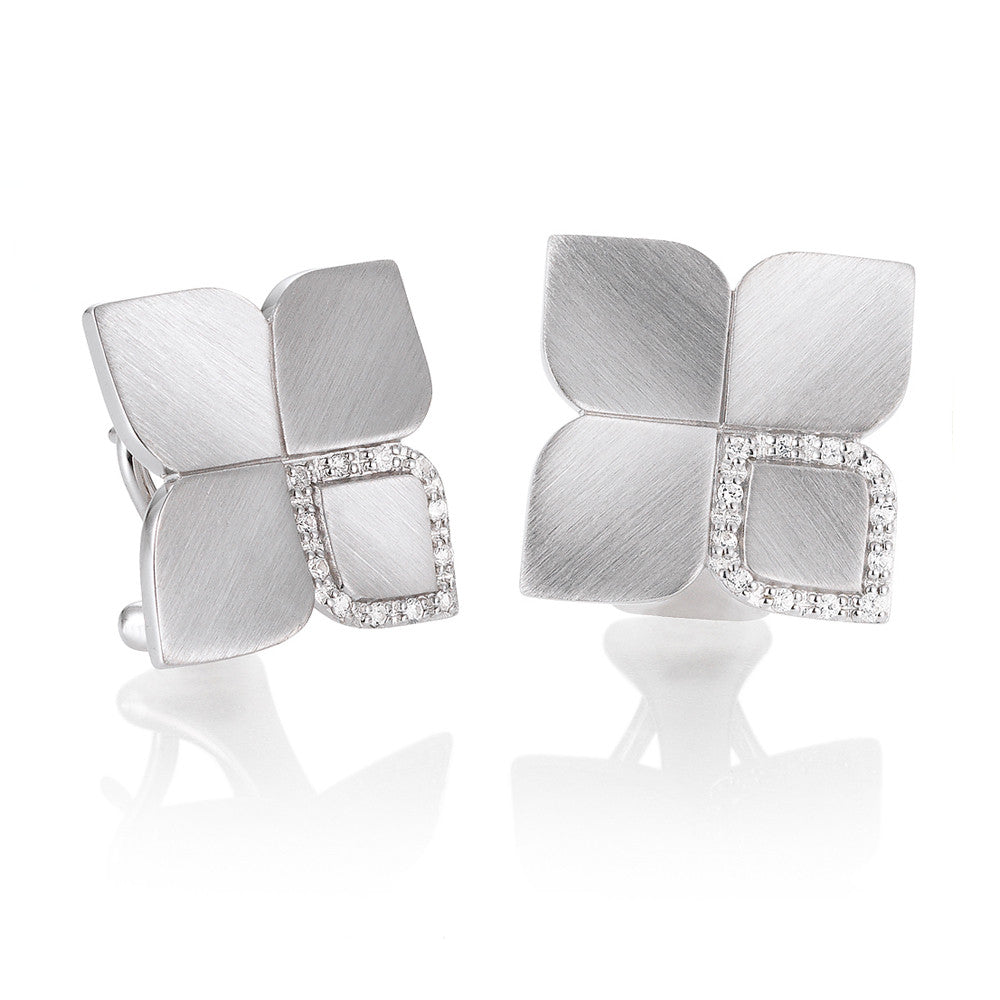 Sterling Silver and White Sapphire Earrings