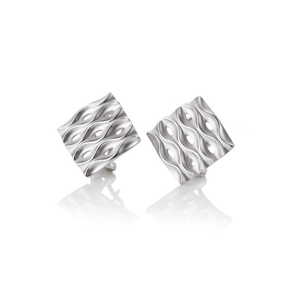 Sterling Silver Geometrical Earrings by Breuning