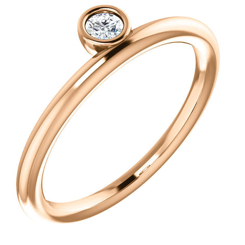 Rose Gold Bezel Ring