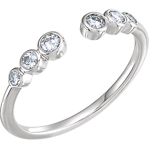 Open Space Diamond Ring