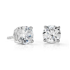 Three Quarter Carat Round Diamonds Studs