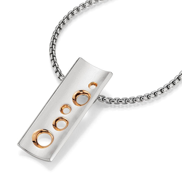 3c436ed1dc136 Designer Sterling Silver and Rose Gold Fashion Bar Necklace – Prospect  Jewelers