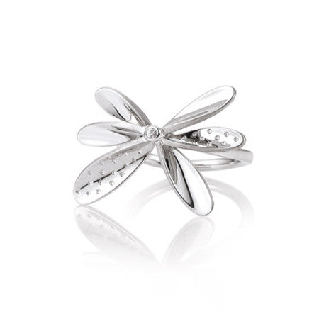 Sterling Silver and White Sapphire Butterfly Ring by Breuning.