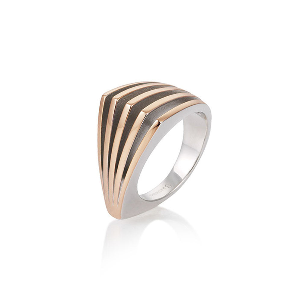 Sterling Silver and Rose Gold Layer Ring