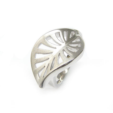 Sterling Silver Leaf Ring by Breuning